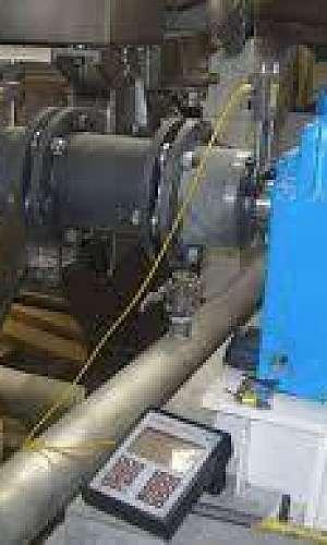 Alinhamento a laser de máquinas rotativas