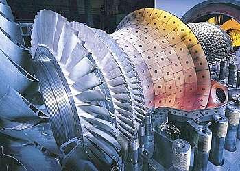 Conserto de turbina a gás